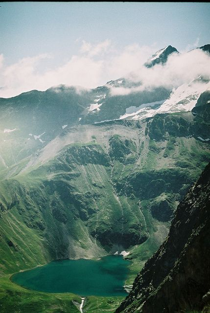 French Alps, a place called Des Ecrins. more specific, its Lac de la Muzelle - photo by mathieueihtam, via Flickr