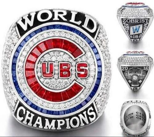 ZOBRIST 2016 Chicago Cubs MLB World series championship ring 8-14S For the fans