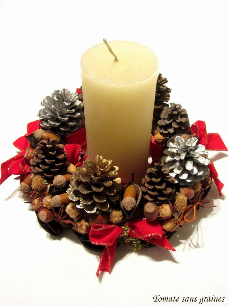 Couronne de Noël / Christmas wreath http://tomatesansgraines.blogspot.fr/2014/11/diy-couronne-de-noel.html