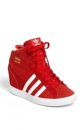 Adidas Wedge Sneakers. Everything wedge, lol, yes please.