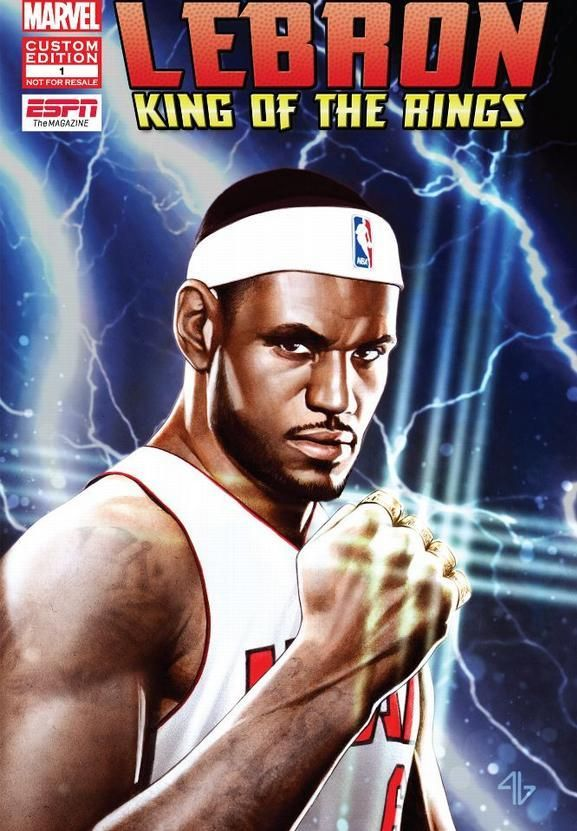 ESPN the Magazine & Marvel have teamed up to create the LeBron: King of the Rings comic book.