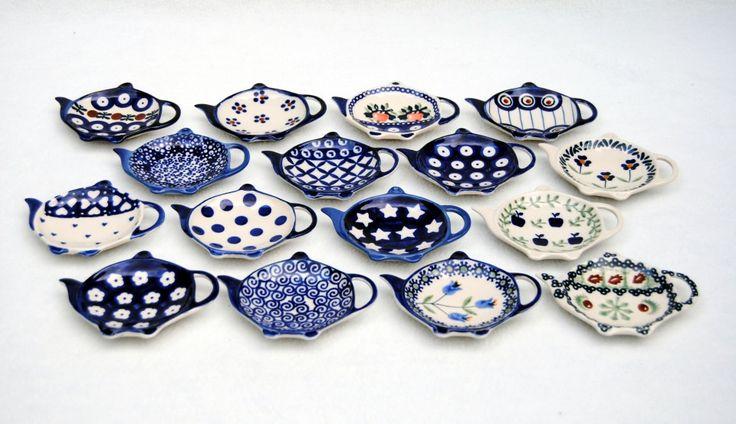 tea bag holders by Polish Pottery