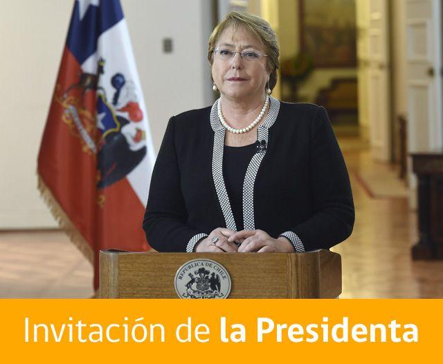 Invitación de la presidenta