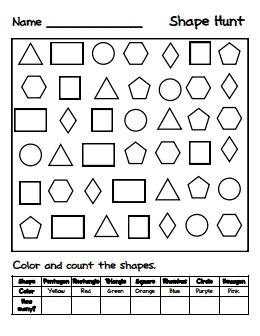 The 51 best Shapes images on Pinterest   Teaching math, Pre school ...