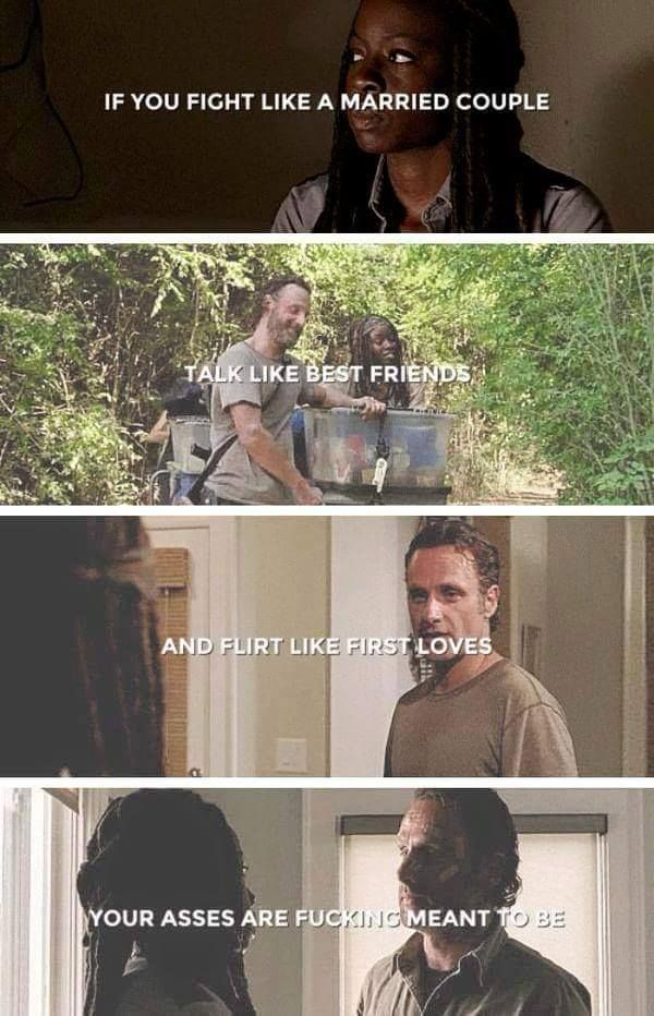 Richonne ~ Rick and Michonne ~ The Walking Dead
