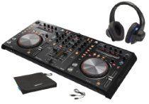Pioneer DDJ-S1 DJ Software Controller Bundle with Denon Urban Raver High Performance Over-Ear Headphones