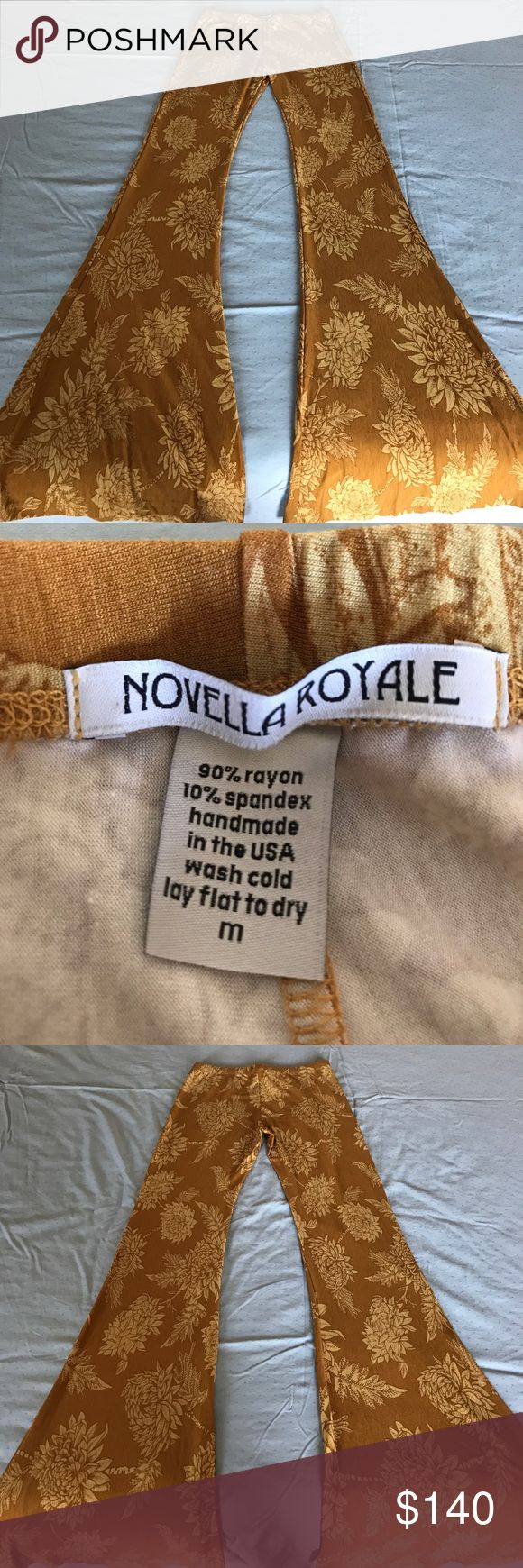 NWOT Novella Royals Janis Flares M Mint condition new with out tags Novella Royale Janis flares in the gold dahlia color. Novella Royale Pants Boot Cut & Flare