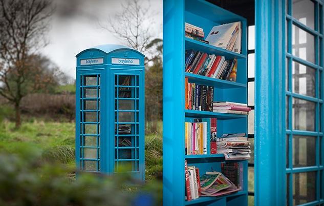The Bray Leino phonebox book exchange in Filleigh, North Devon