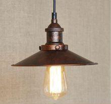 E27 edison vintage lampadina inclusa d22cm d26cm d30cm d36cm arrugginito vecchia luci retrò ciondolo luminaria coperchio paralume pendente lampade(China (Mainland))