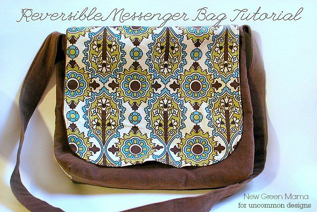 Create a custom Reversible Messenger Bag with this fabulous step by step picture tutorial. A great way to create and sew a custom tote bag!