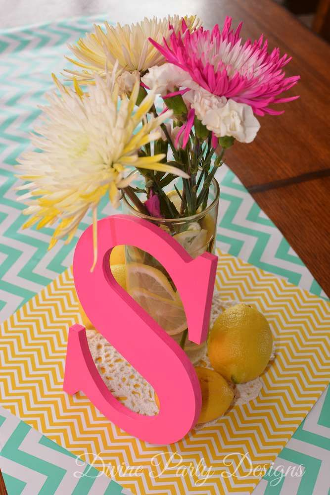 Pink Lemonade Birthday Party decorations!  See more party planning ideas at CatchMyParty.com!