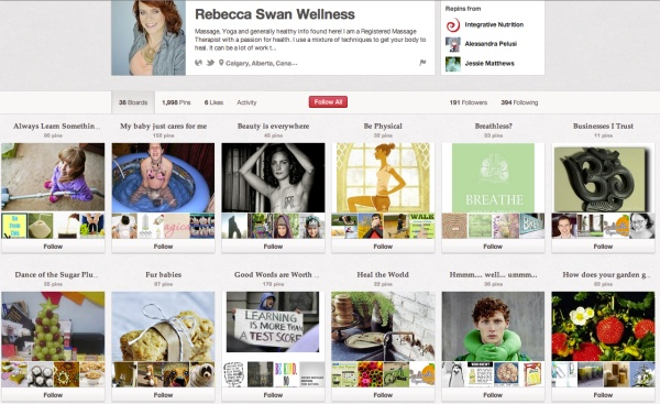 "An article about my ""pinning"" skills and Pinterest - Rebecca Swan Wellness"