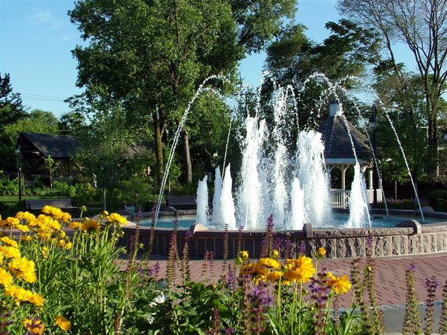 The Naperville Riverwalk--super fun for kids during the day, super chill and romantic for couples at night!