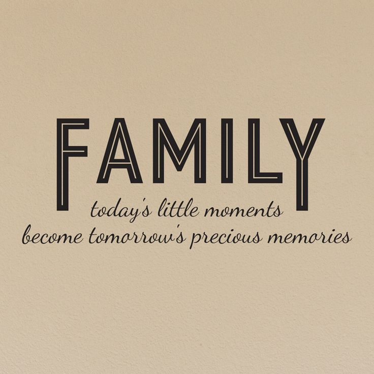 Family today's little moments Quote