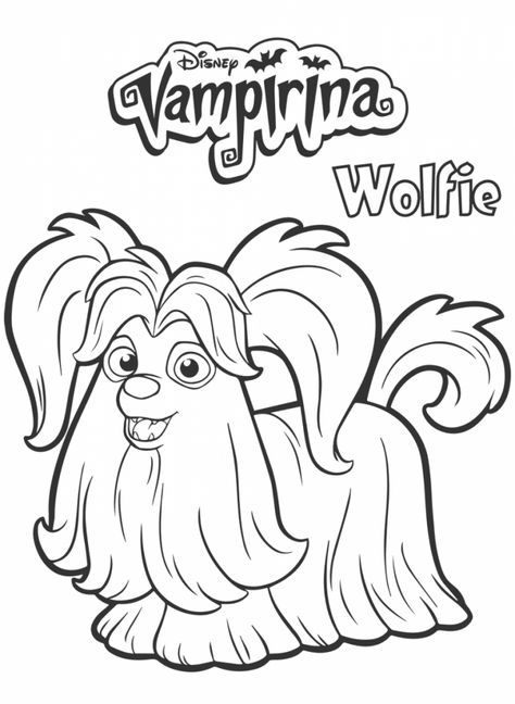 Wolfie From Vampirina Coloring Page Halloween Disegni Da