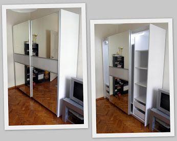 ΕΠΙΠΛΟ ΧΑΤΖΗΑΝΤΩΝΙΟΥ - Google+  Ντουλάπα με συρόμενες πόρτες και καθρέφτες. Διαθέτει συρτάρια, ράφια, ράγες ρούχων και φωτισμό με αισθητήρα κίνησης.