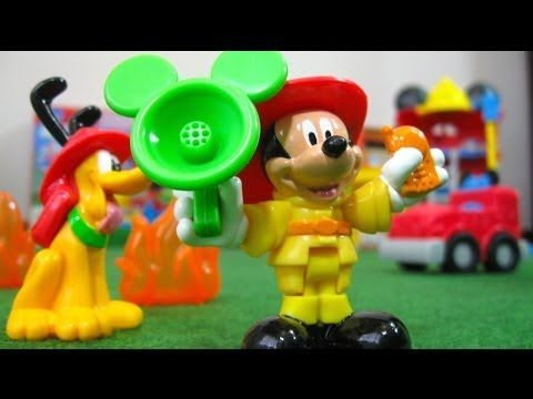 Mickey Mouse Funny Firehouse Clubhouse Disney Junior Fisher-Price - Juguetes de Mickey Mouse - YouTube