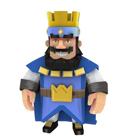 Paperized Clash Royale The King Papercraft Clash