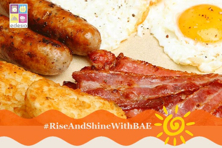 #RiseAndShineWithBAE for a beautiful life everyday! Edesia brings to you the best of Bacon And Eggs along with a huge variety of healthy & tasty #Breakfast specials from 8 am. To feast like a king, call us on 098748 24561.