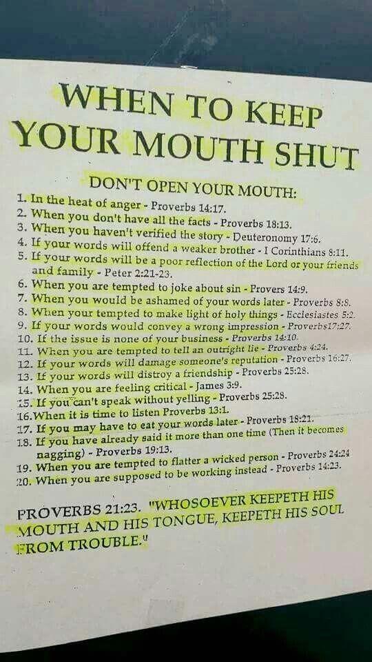 Biblical advice