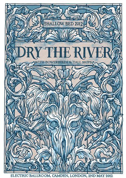 Dry the River Altri Artisti Rock Poster Art | Elzapoppin Stickers Shop