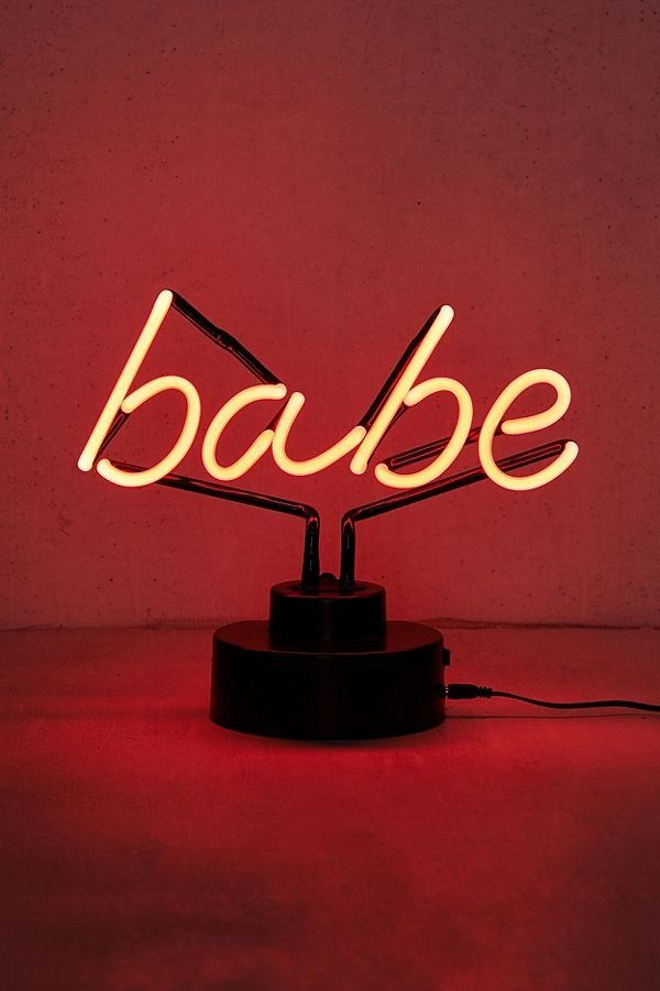 c26051215b Babe Neon Sign Table Lamp in 2019