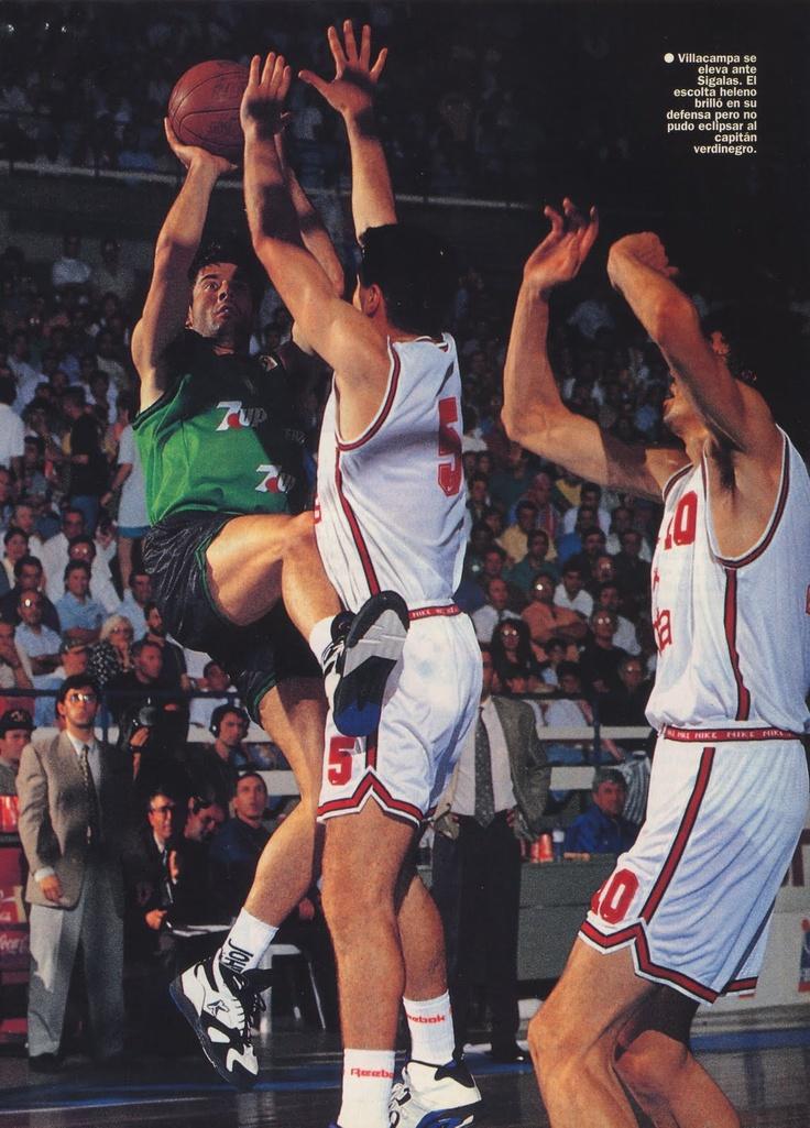 Villacampa en la final europea 1994