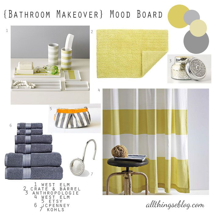 1000+ Ideas About Yellow Gray Bathrooms On Pinterest