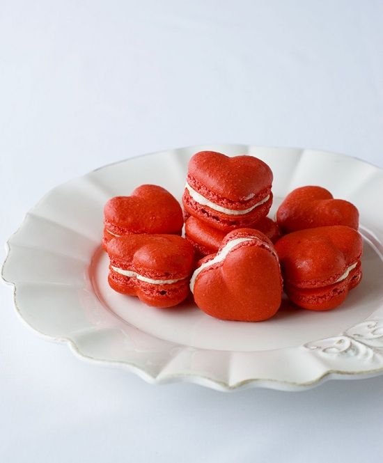 Delectable Deliciousness - Heart Shaped Macaroons  #wedding favour ideas