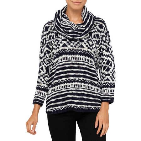 Lee Cooper Chunky Turtleneck Poncho