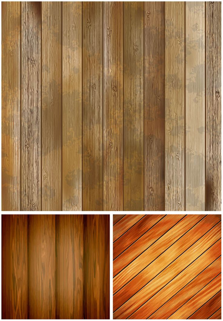 """Set of 3 vector wooden planking textures and backgrounds for your designs. Format: EPS or Ai stock vector clip art and illustrations. Free for download. Set name: """"Wooden planking textures"""" for Adobe Illustrator. Theme tags: wood textures, vector wood, nature…"""