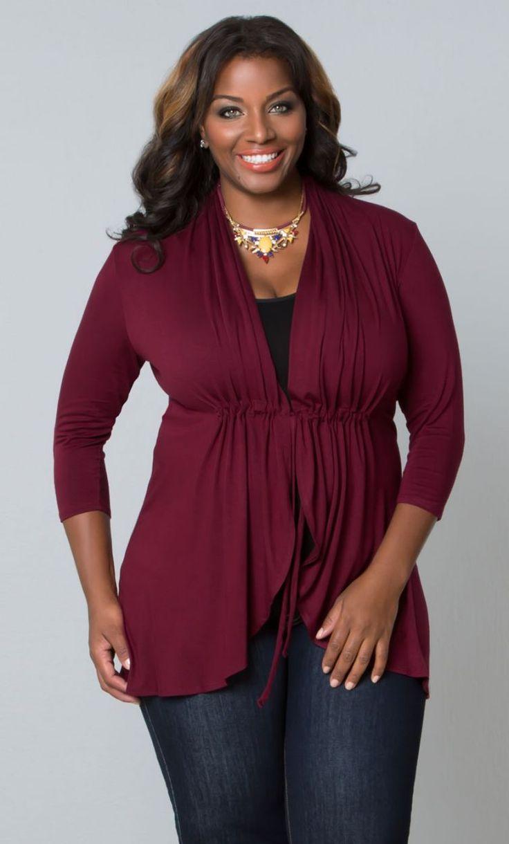Curvalicious Clothes::Plus Size Tops::Sunset Stroll Bellini - Cabernet