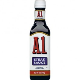 Homemade A1 Steak Sauce =  1 cup catsup, 1/2 cup or less of Worstershire Sauce.  Mix and viola!   A1 Steak Sauce (295ml)