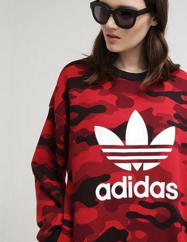 bluza adidas moro czerwona