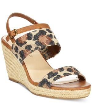 Bella Vita Grayson Wedge Sandals - Leopard 8N