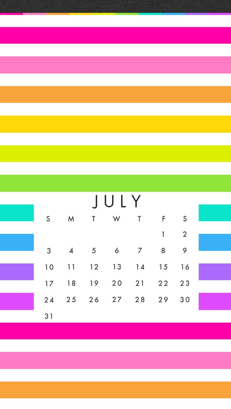 Calendar Wallpaper Phone : Best july calendar wallpaper images on pinterest