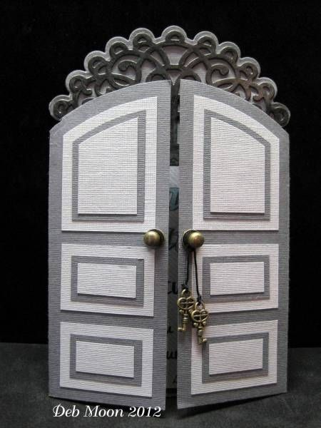 Arched Door Card.... and a plain rectangle door, too, plus TEMPLATES for both!