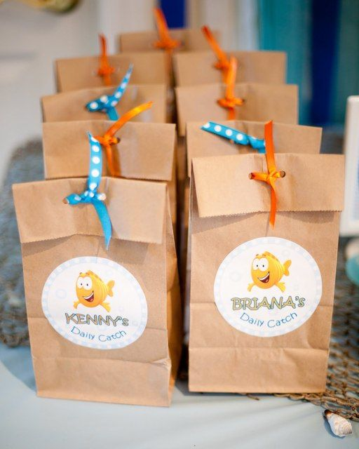 Under the sea birthday party ideas sacks bubble guppies and bags - Bubble guppies party favors ideas ...