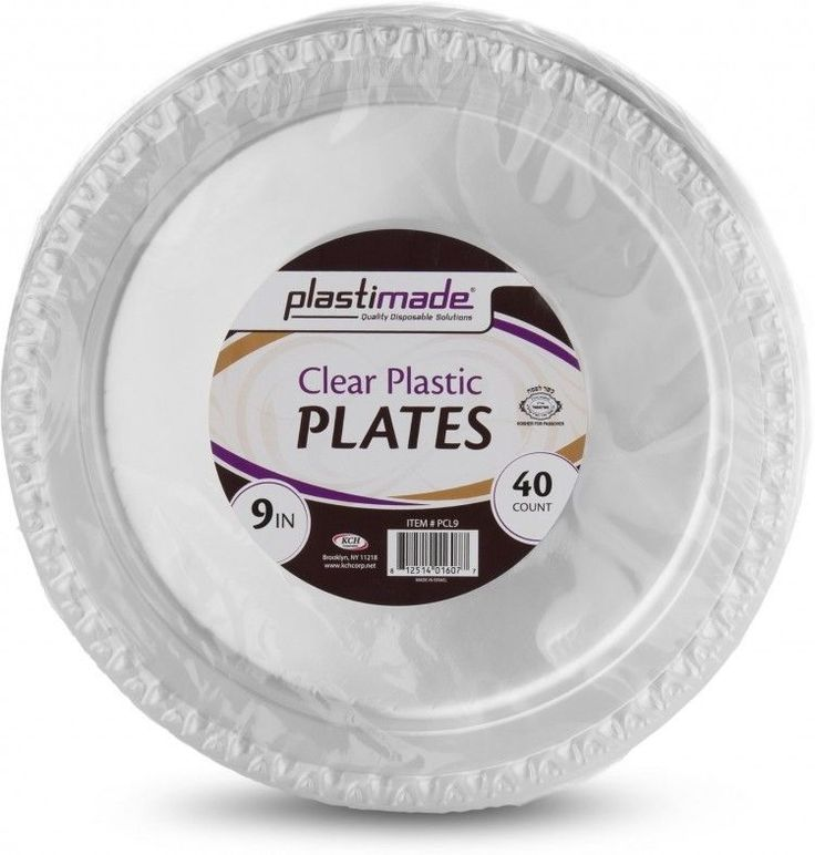 Clear Plastic Plates Disposable Round Party Dessert Dinner Tableware Pack of 80 #PartySupplies
