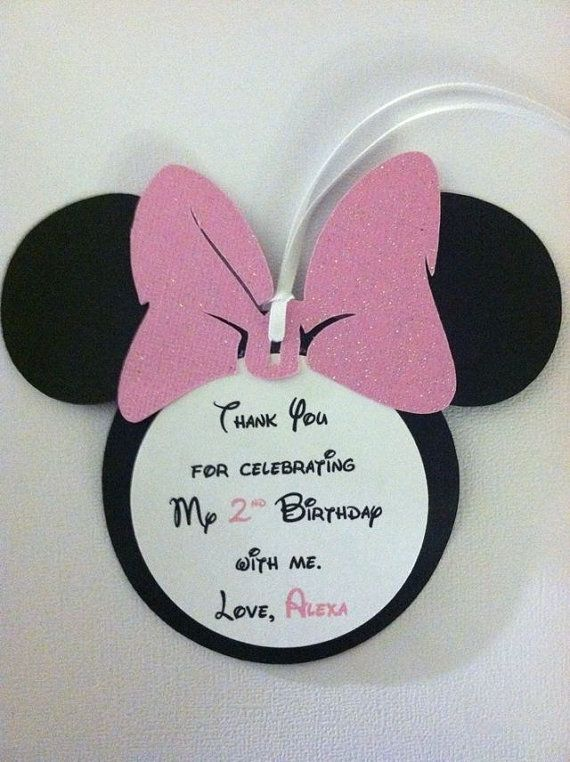 Minnie Mouse Thank You Tags Minnie Mouse Gift Tags