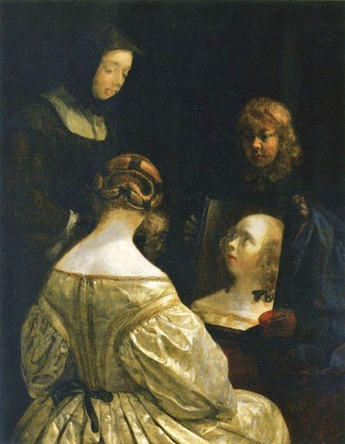 Dutch Baroque painter Gerard Terborch (1617 - 1681)