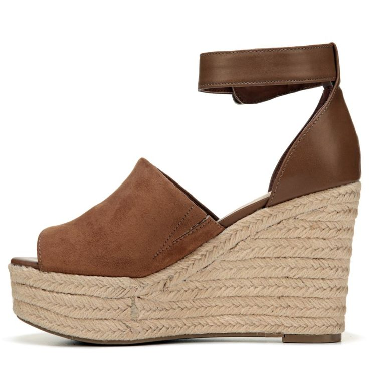 Indigo Rd Women's Airy Espadrille Wedge Sandals (Toffee)