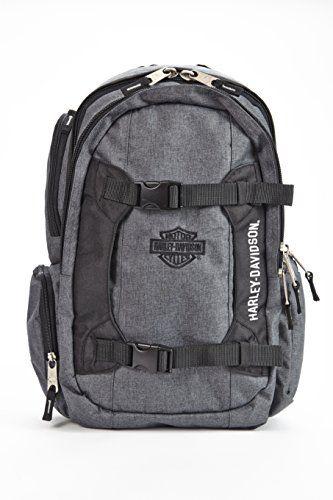 Harley Davidson Equipt Backpack, Grey/Black -- Additional info @