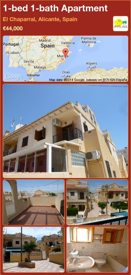 1-bed 1-bath Apartment for Sale in El Chaparral, Alicante, Spain ►€44,000