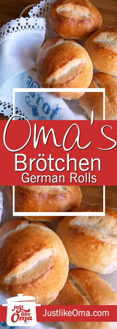 German Bread Rolls aka Brötchen are the BEST thing next to sliced bread! ❤️ Check out http://www.quick-german-recipes.com/bread-rolls-recipe.html  PIN now and bake later!