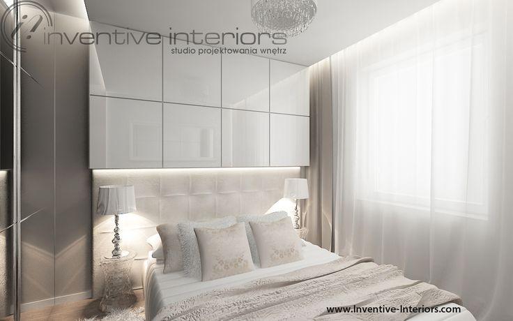 Projekt sypialni Inventive Interiors - klimatyczna jasna sypialnia z beżem i bielą