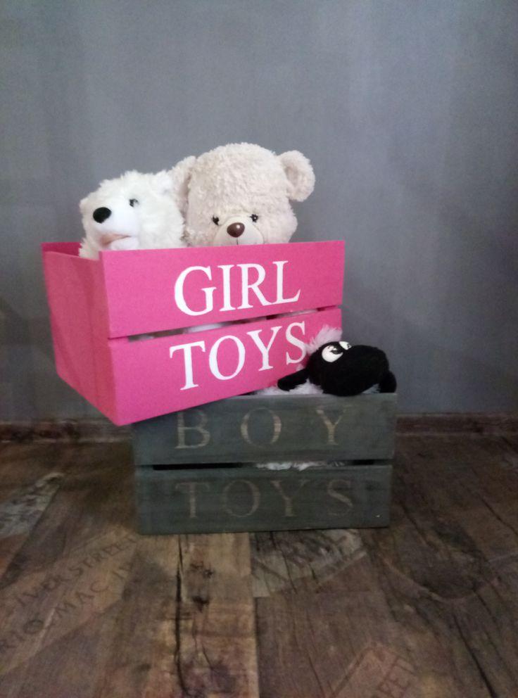 Яркие ящики для игрушек Размер 45*30*25 см.