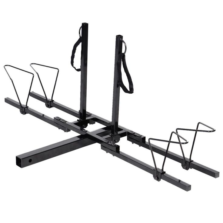 Tek Widget Heavy Duty 2 Bike Carrier Mount Rack 2'' Hitch Receiver. Carries up to two (2) bikes. Securely straps on with straps at 4 points for each bike. Heavy duty steel construction for durability, powder coated to resist corrosion. Fits most bicycle frames with adjustable tire rods and individual ties. Works with many alternative and larger tubed frame bikes.
