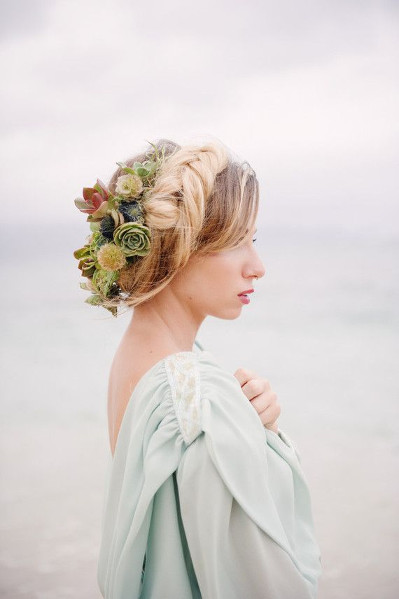Tropical Bridal Floral Hairstyle Hair And Beauty