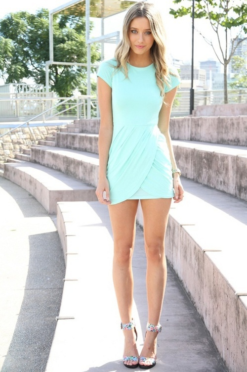mint wedding guest dress dresses love pinterest